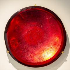 Roberto Giulio Rida Red glass sculpture Rosso Roberto Giulio Rida - 1677141
