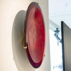 Roberto Giulio Rida Red glass sculpture Rosso Roberto Giulio Rida - 1677142