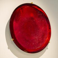 Roberto Giulio Rida Red glass sculpture Rosso Roberto Giulio Rida - 1677143