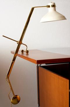 Roberto Menghi Rare Libra Lux Table Lamp by Roberto Menghi for Lamperti Co Italy 1948 - 522871