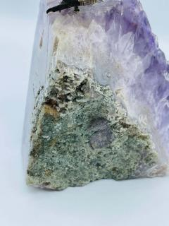 Rock Crystal and Amethyst Geode Sculpture of A Carved Parrot Bird - 2137883