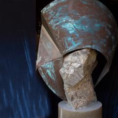 Rock Garden Sculptures Abstract Art Soapstone Copper Rancho Santa Fe CA - 1771215