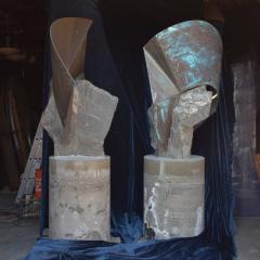 Rock Garden Sculptures Abstract Art Soapstone Copper Rancho Santa Fe CA - 1771222
