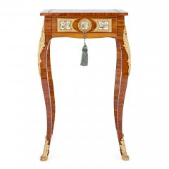 Rococo style side table with porcelain plaques - 1443625