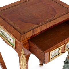 Rococo style side table with porcelain plaques - 1443628