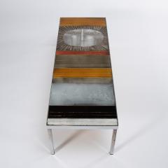 Roger Capron A large cocktail table Table au soleil steel ceramic tiles - 1648419