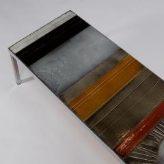 Roger Capron A large cocktail table Table au soleil steel ceramic tiles - 1648425
