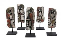 Roger Capron Abstract Ceramic Sculptures France 1990s - 884463