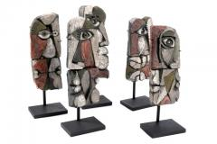 Roger Capron Abstract Ceramic Sculptures France 1990s - 884465