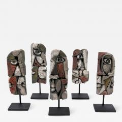 Roger Capron Abstract Ceramic Sculptures France 1990s - 884760