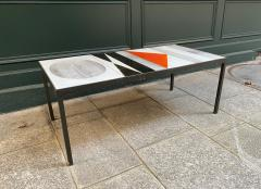 Roger Capron Ceramic Coffee Table Vallauris France 1960s - 2126947