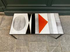 Roger Capron Ceramic Coffee Table Vallauris France 1960s - 2126949