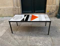 Roger Capron Ceramic Coffee Table Vallauris France 1960s - 2126950
