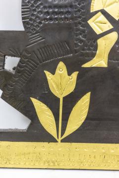 Roger Capron Decorative panel in lead 1960s - 2065046