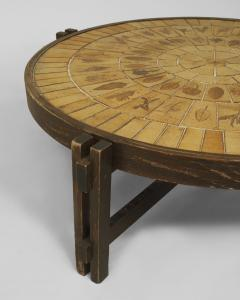 Roger Capron French 1960s Round Coffee Table - 443192