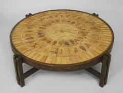 Roger Capron French 1960s Round Coffee Table - 443193