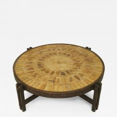 Roger Capron French 1960s Round Coffee Table - 446161
