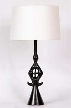 Roger Capron Lampe Noire - 971717