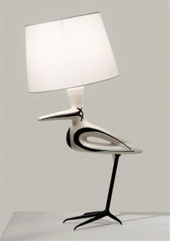 Roger Capron Lampe Oiseau Echassier - 502532