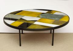 Roger Capron Low round table with ceramic top - 1131069