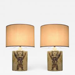 Roger Capron Pair of elliptical table lamps by Roger Capron France 1950 - 913797
