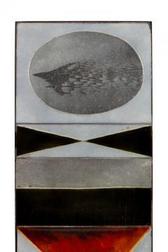 Roger Capron Roger Capron Glazed Lava Ceramic Tile Panel - 1090118