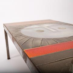 Roger Capron Roger Capron Large Table au soleil Steel and Ceramic Tiles Vallauris France - 992815