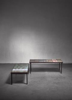 Roger Capron Roger Capron pair of signed side tables - 1235106