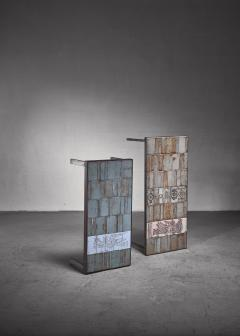 Roger Capron Roger Capron pair of signed side tables - 1235108