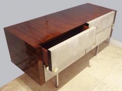 Roger Landault Modernist Dresser Vanity in Rosewood and Suede by Roger Landault circa 1965 - 209927