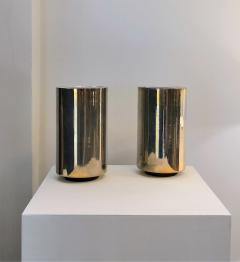 Roger Nathan rarest pair of gilt table Corfou lamps by Roger Nathan France 1970s - 1042442