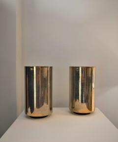 Roger Nathan rarest pair of gilt table Corfou lamps by Roger Nathan France 1970s - 1042443