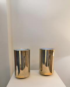 Roger Nathan rarest pair of gilt table Corfou lamps by Roger Nathan France 1970s - 1042444