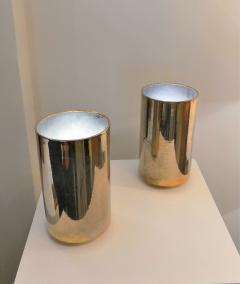 Roger Nathan rarest pair of gilt table Corfou lamps by Roger Nathan France 1970s - 1042445