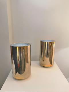 Roger Nathan rarest pair of gilt table Corfou lamps by Roger Nathan France 1970s - 1042447