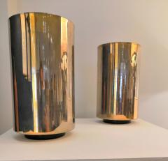 Roger Nathan rarest pair of gilt table Corfou lamps by Roger Nathan France 1970s - 1042450