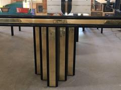 Roger Rougier Brass and Black Lacquer Dining Table by Roger Rougier - 631361