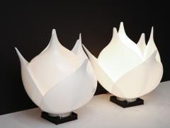 Roger Rougier Pair of Large 1980s Rougier Lamps - 1057571