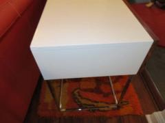 Roger Rougier Pair of Rougier Rosewood Two Drawer Chrome Base Nightstands Mid Century Modern - 1550141