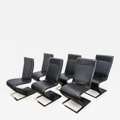 Roger Rougier SUITE OF SIX ROGER ROUGIER ZIG ZAG DINING CHAIRS - 2127278