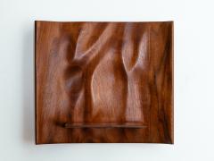 Roger Sloan American Studio Hand Sculpted Walnut Waterfall Shelf by Roger Sloan circa 1970 - 902208