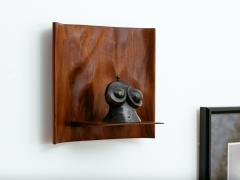 Roger Sloan American Studio Hand Sculpted Walnut Waterfall Shelf by Roger Sloan circa 1970 - 902210
