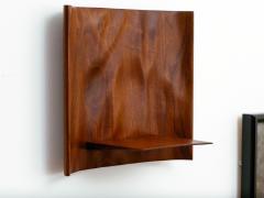 Roger Sloan American Studio Hand Sculpted Walnut Waterfall Shelf by Roger Sloan circa 1970 - 902211