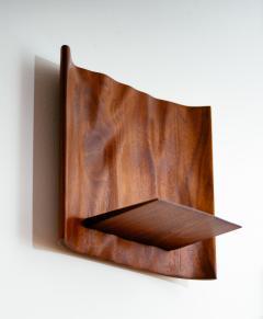 Roger Sloan American Studio Hand Sculpted Walnut Waterfall Shelf by Roger Sloan circa 1970 - 902212