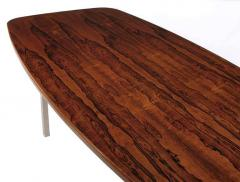 Roger Sprunger Dunbar Rosewood Dining Table with Polished Stainless Steel Base - 665530