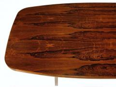 Roger Sprunger Dunbar Rosewood Dining Table with Polished Stainless Steel Base - 665531