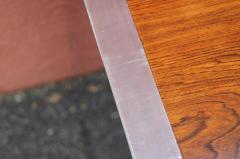 Roger Sprunger Rosewood and Chrome Credenza by Roger Sprunger for Dunbar - 1181149