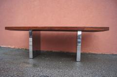 Roger Sprunger Rosewood and Chrome Executive Desk by Roger Sprunger for Dunbar - 1181131