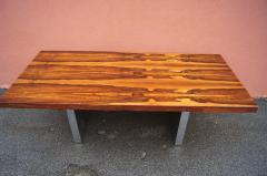 Roger Sprunger Rosewood and Chrome Executive Desk by Roger Sprunger for Dunbar - 1181133