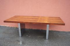 Roger Sprunger Rosewood and Chrome Executive Desk by Roger Sprunger for Dunbar - 1181134